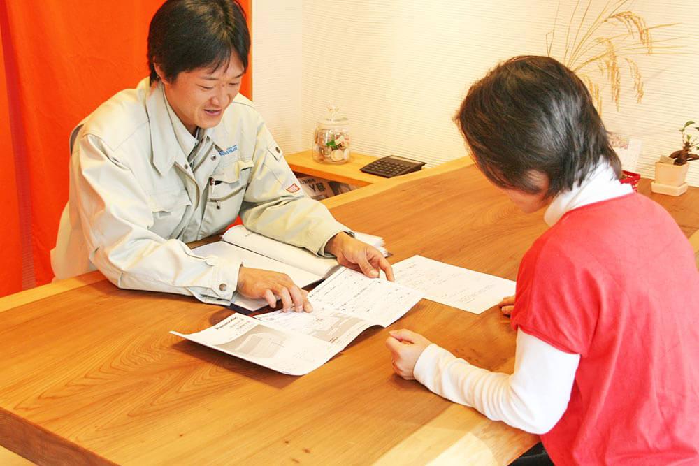 工事記録ファイルと保証書の発行で、工事記録が明確です