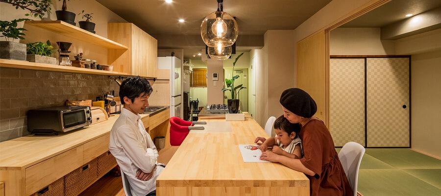 こだわりの自然素材・天然素材の注文住宅・リノベーション(フルリフォーム)の駿河屋の家づくり